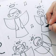 Anjinhos fofos, que o Natal já tá bem aí 💕 ⚪ ⚪ ⚪ #watercolour #watercolor #aquarelle #aquarela #ilustración #ilustração #illustration #draw #sketch #paint #desenho #dibujo #desenhando #love #amor #portrait #retrato #aquarelinhas #colorful #tree #natal #merrychristmas #christmas #feliznatal #anjo #angel