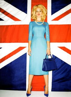"""""""Iron Lady"""": Georgia May Jagger as Margaret Thatcher by Terry Richardson for US Harper's Bazaar Terry Richardson, Georgia May Jagger, Union Jack, Hugo Boss, Miu Miu, Tommy Hilfiger, Gucci, Fashion Articles, Editorial Fashion"""