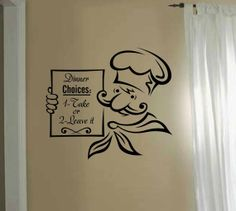 Kitchen wall art  decal sticker   Dinner by VinylWallQuotes, $18.00 https://www.etsy.com/shop/VinylWallQuotes?ref=si_shop