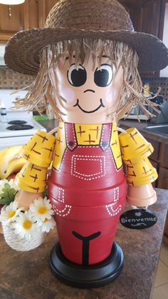 Need to copy this Flower Pot Art, Clay Flower Pots, Terracotta Flower Pots, Flower Pot Crafts, Clay Pot Projects, Clay Pot Crafts, Diy Clay, Flower Pot People, Clay Pot People