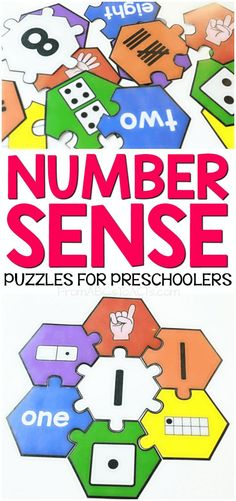 These printable number sense puzzles for preschoolers and kindergartners make a fantastic center activity and are so easy to put together!