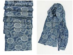 Hand Loomed Japanese Katazome Cotton. Aizome. Long by FurugiStar