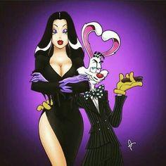 Roger Rabbit and Jessica Rabbit
