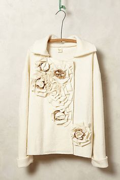 Garden Party Boiled Wool Jacket #anthrofave