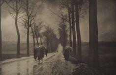 Paskudna pogoda, około 1910, fresson, własność rodziny Misonne, copuright Photographies Léonard Misonne, asbl - Sabam 2008