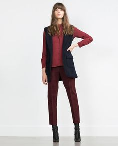 WOOL WAISTCOAT-Jackets-WOMAN   ZARA United States