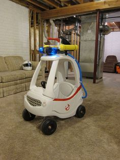 Turning A Cozy Coupe Toy Car Into a Ghostbusters Ecto-1 Vehicle | Makezine