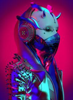 ArtStation - FM (F*cking Music), sick Cyberpunk Girl, Arte Cyberpunk, Cyberpunk Aesthetic, Cyberpunk Character, Cyberpunk 2077, Cyberpunk Fashion, Character Concept, Character Art, Concept Art
