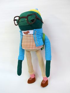 Super fun and well constructed plush creatures by cat rabbit, via Flickr