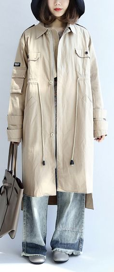 beige-cotton-trench-coat-tie-waist-loose-lapel--parka