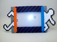 Perler bead Portal photo frame