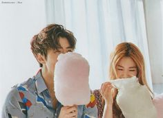 Sehun (EXO) & Irene (Red Velvet) - Céci Magazine February Issue Cr: think-b