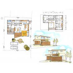 写真の説明はありません。 House Layouts, House Plans, Floor Plans, Instagram, Japanese House, House, House Floor Plans, Floor Plan Drawing, Home Plans