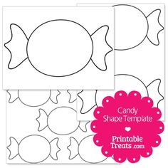 printable candy shape template