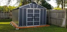 Bring a typical and ideal expression to your space by selecting this Palram Yukon Dark Gray Storage Shed with WPC Floor Kit. Outdoor Storage Sheds, Shed Storage, Resin Sheds, Utility Sheds, Shipping Company, Organizing Your Home, Outdoor Structures, Patio, Quartos