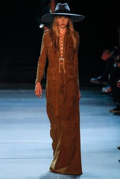 Saint Laurent Spring 2013 Ready-to-Wear Fashion Show - Edie Campbell (Viva)