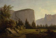 """El Capitan,"" Thomas Hill, 1866, oil on canvas, 18 x 26"", Oakland Museum of California."