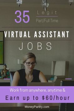 35 legit virtual assistant jobs companies that pay you up to 60hr to work at home