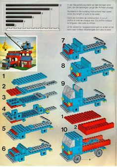 Lego Building Project For Kids 112 - mybabydoo- Building Project For Kids 112 - mybabydoo- Building Project For Kids 112 - mybabydoo- Lego Cars, Lego Auto, Lego Truck, Lego Design, Truck Design, Lego Vintage, Instructions Lego, Lego Therapy, Lego Advent Calendar