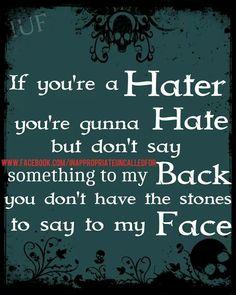 dear haters :))