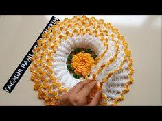 LAHANA LİF ANLATIMI HD/Yağmur Damlası Örgülerim - YouTube Crochet Flower Tutorial, Crochet Flower Patterns, Doily Patterns, Crochet Designs, Crochet Flowers, Crochet Hair Bows, Crochet Dollies, Diy Bead Embroidery, Hand Embroidery Designs