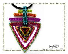 Triangle Shape Pendant  Earrings Beading Tutorial от Studio183, $12.00