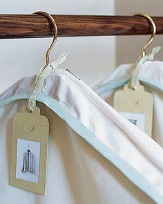 A Peek Inside: Labels for Garmet Bags