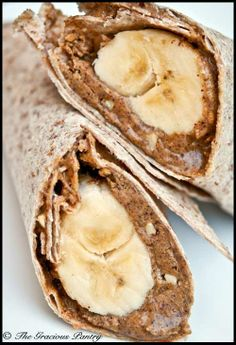 Peanut Butter & Banana Breakfast Wrap- perfect for rushed mornings!