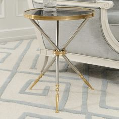 campaign side table black top
