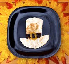 Thanksgiving for Kids: Pilgrim Hat Quesadilla - Thanksgiving - Cooking - Recipe.com/dcc