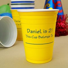 Available in 11 assorted color options, personalized 16 oz Solo cups are a sure fire way to add originality to your event and make a lasting impression on your friends and family.