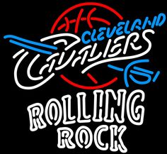 Rolling Rock Double Line Cleveland Cavaliers NBA Neon Sign 2 0020, Rolling Rock with NBA Neon Signs | Beer with Sports Signs. Makes a great gift. High impact, eye catching, real glass tube neon sign. In stock. Ships in 5 days or less. Brand New Indoor Neon Sign. Neon Tube thickness is 9MM. All Neon Signs have 1 year warranty and 0% breakage guarantee.