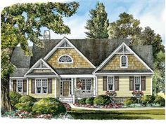 Eplans Craftsman House Plan - Country Appeal - 1971 Square Feet and 3 Bedrooms from Eplans - House Plan Code HWEPL08401