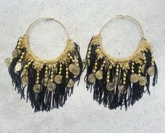 Hey, I found this really awesome Etsy listing at https://www.etsy.com/listing/212304380/big-black-earrings-black-earrings