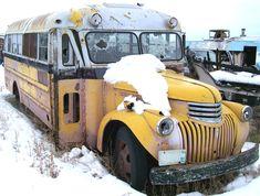 Classic Chevy school bus
