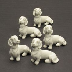 10 Ceramic Figurine Unpainted Ready To Paint Dachshund Short Haired