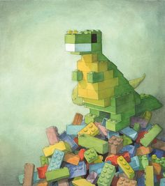 LOVE THIS IDEA! Have students build a lego structure then use it as a drawing/painting from life focus.  Quentin Gréban