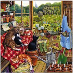 levkonoe | Одна из любимых наших тем - садовые сараи. Chrissie Snelling