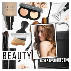 """""""Beauty Routine"""" by pokadoll ❤ liked on Polyvore featuring beauty, Bobbi Brown Cosmetics, xO Design, polyvoreeditorial and polyvoreset"""