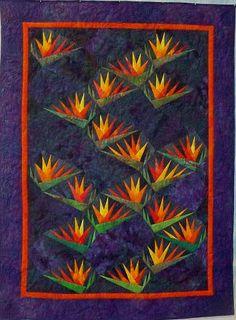 Bird of Paradise - Paper Pieced Pattern by Karen Stone.