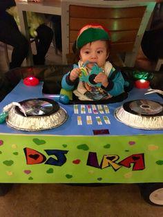 Baby DJ booth costume Halloween idea on wagon  sc 1 st  Pinterest & DJ Halloween Costume | My Style | Pinterest | Halloween costumes Dj ...