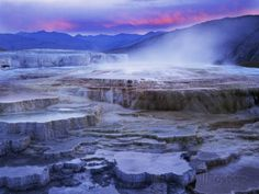 Mammoth Hot Springs, Yellowstone National Park, Wyoming, USA Photographic Print by Charles Gurche at AllPosters.com