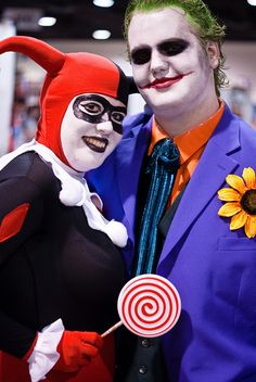 Harley Quinn and the Joker by sdoorly, Comic-Con International: San Diego 2010, via Flickr