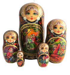 Tempera, Russian Babushka, Kokeshi Dolls, Artisanal, Storytelling, Bricolage