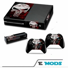Video Games & Consoles Logical Punisher Xbox One S 1 Sticker Console Decal Xbox One Controller Vinyl Skin Video Game Accessories