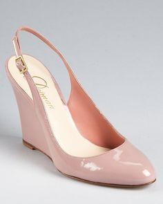 1d9299bf71e Wedding shoes - Blush sling back wedge  blush  weddingshoes Blush Wedges