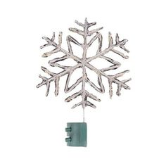 Crystal Snowflake Tree Topper ($29) ❤ liked on Polyvore featuring ...