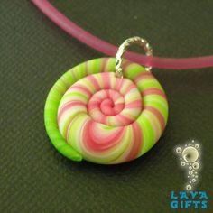 Polymer clay Pendant by MandarinMoon on deviantART