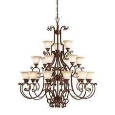 "Kichler Lighting 2219TZG 2 Larissa Chandelier, Tannery Bronze® - ATG Stores, 5 1/2 feet tall, 4'8"" wide. $2999"