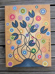 Dot Painting Canvas Gicleé Print 30 x 40 cm por ArtAndBeing